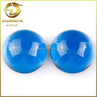 Wholesale China alibaba blue flat back cabochon glass gems stones
