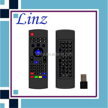 mx3 2.4g mini fly air gyro mouse wireless keyboard Double keyboard Wireless MX3 Air Mouse With IR Remote