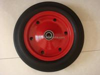 machine use heavy duty solid rubber wheel, 15 inch solid rubber wheel