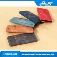Jeans Style Wallet For iPhone 6 Leather Cell Phone Case