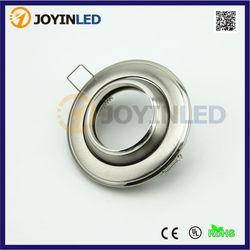 Satin Nickel Zinc Alloy led gu10 mr16 bulb holder aluminum light frame