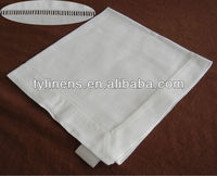 Linen hand embroidered hemstitched table napkins