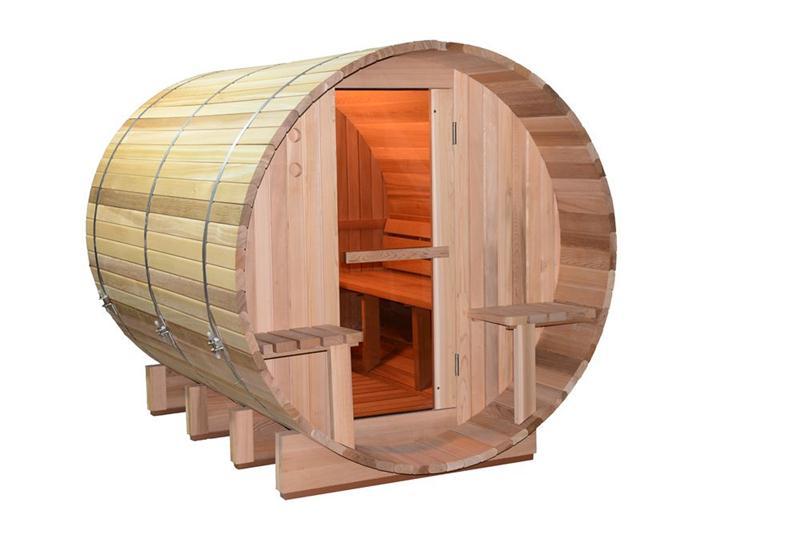 Cuarto de madera Al Aire Libre Cabina Sauna BarrilSalas de Sauna