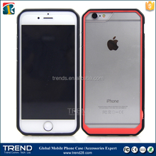 2015 new products hybrid transparent clear plastic case for iphone 6S