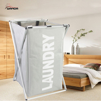 Laundry Hamper Foldable Clothes Basket Collapsible Portable Sturdy Bin Holder