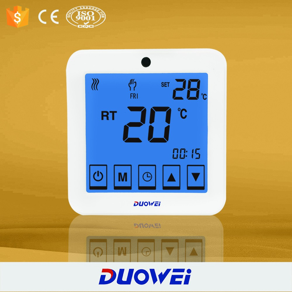 Week Programmable Floor Heating Thermostat Used For Electric Water ...