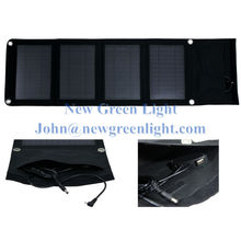 NGL Solar Charger 14W 12V Monocrystalline Intelligent Controller USB Chainable Black Water-resistant Solar Panel NGL-101401204