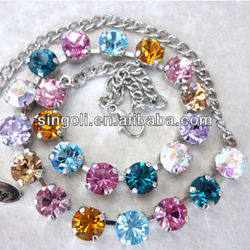 Crystal Necklace Made with CRYSTALLIZE Elements- designer Inspired multi colored GREAT PRICE ,Lily