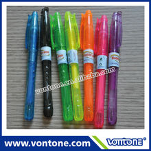 fluorescent recycled bottle PET gel ink pen