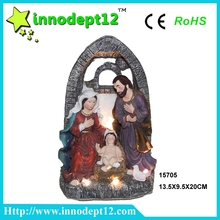 Christmas decoration resin Christian stable Nativity