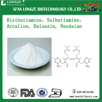 white crystalline powder Sulbutiamine CAS 3286-46-2 Bisibutiamine, Sulbutiamine, Arcalion, Daisazin, Neodaian 98-99%