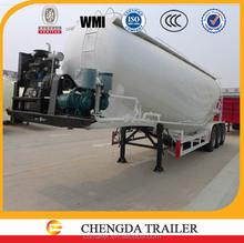 bulk powder tanker semi trailer with air compressor unloading
