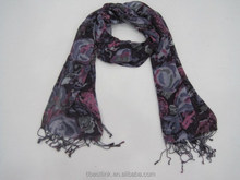 2015 Speciality Women's Spring Long Soft Voile Floral pattern Scarf Shawl