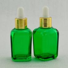 2015 Alibaba China 30ml green glass bottle,round/square/rectangle 20ml green glass bottle,usd for essential oil /nail polish