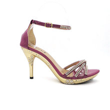 ODM lastest Fashion 2012 women high heel shoes with genuine leather