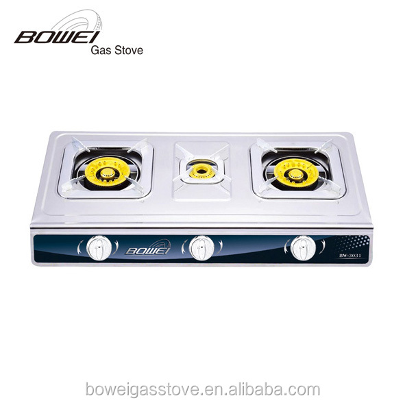 Best designer portable all brands 3 burner gas stove top for Luxury stove brands