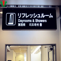 Airport/subway advertising product DIY Led backlit letter sign