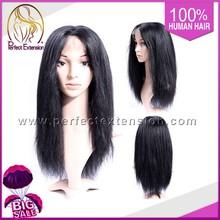 Instock Full Human Virgin Brazillian Yaki Short Hair Wigs For Women