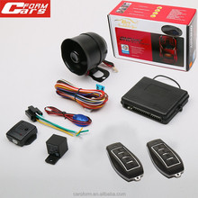 China supplier the car most economic universal 433mhz remote alarm jammer security one way car alarm