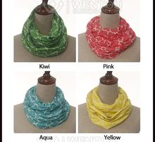 Poliéster Moda infinito cuadrifolio bufanda