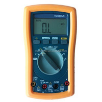 LCD Digital Multi meter AC/DC Multitester Electrical Tester Resistance Temperature Tester With AC/DC External Clamp VC9805A+