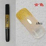 hot sell 2-Way nail art polish pen for nail art tips golden color