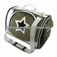 Deluxe Pet Carrier with Mesh Panel for Ventilation