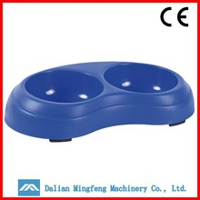 Double dog food bowl canister blue weighted dog bowls disposable