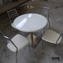 Kkr solid surface 12 seater dining table, round stone top dining tables