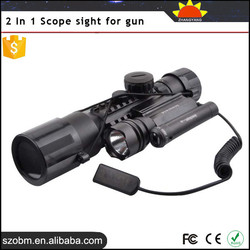 2015 Newest 2 In 1 Tactical riflescopes red dot sight 1mW/5mW/10mW/30mW 3-10X42 Red Laser + LED flashlight Scope sight for gun