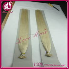 Brazilian Remy I- Tip human hair remy hair extension