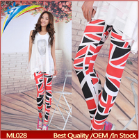 UK flag custom fitness leggings sexy school girl tights pantyhose