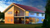 2015 Low cost color steel prefab house plans