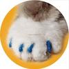 Pet cat Nail Sets Soft Claws Nail Cap Paw Caps Pet Nail Cover 14 Colors 20pcs/Card with adhesive