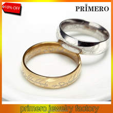PRIMERO Hot-selling Hobbit Letters The of Male Gift Titanium Rings For Men Women Party Black Silver Gold Size 7-15