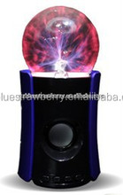 Magic Plasma Ball Mini Bluetooth Speaker with LED Light USB Port
