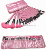 32 Pieces Professional Cosmetic Makeup Brush Set In Roll Makeup Case