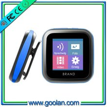 oem mp3 player hottest Sports clip player!!! electrical supplier mp4 watch download with G-sensor,Pedometer,FM radio