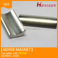 Ndfeb arc magnet made from poweful rare earth magnet China manufacture