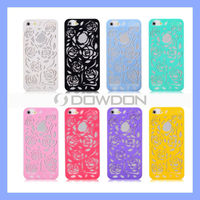 3D Carving Hollow Flower Rose Case for Apple iPhone 5 5S Hard Back Cover