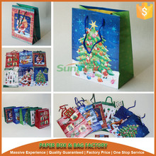 christmas gift bag, decorated xmas bag