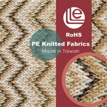 Wave geometric pattern fabric for famous brand bags shoes knitted fabric