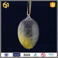 Clear hanging glass easter egg