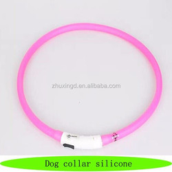 Dongguan the silicone, dog collar silicone pink, wholesale pet supply