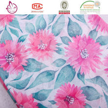 Made in china For home-use Spun Rayon custom printed spandex fabric