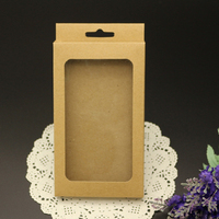 Cheap Large Kraft Phone Case Cover Packing Box with Tray