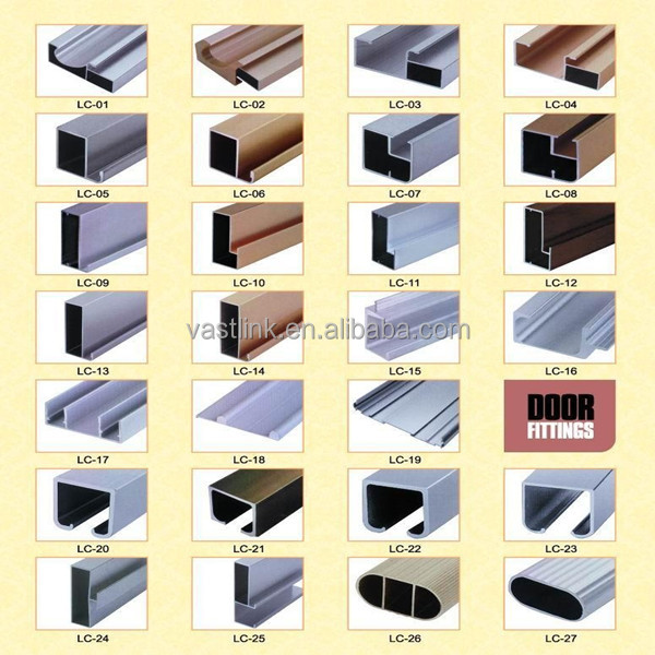 madera de color perfil de aluminio de revestimiento