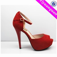 Red Heel Wedding High Heel Sandals Shoes for Women and Lady