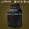 custom printed matte black foil ziplock coffee bag with valve