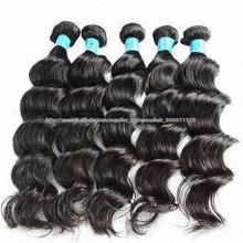 10a grado ola suelto cabello virgen sin procesar brasileña 100 % coser extensión del pelo humano en trama del pelo